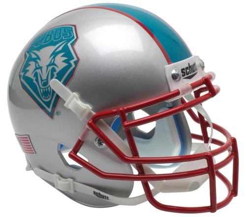 New Mexico Lobos Alternate Teal Schutt Mini Authentic Football Helmet