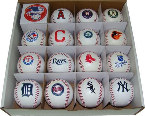 "All 30 MLB Teams Rawlings ""The Original"" Team Logo Baseballs"
