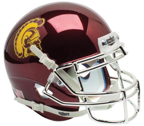 USC Trojans Alternate CHROME Schutt Mini Authentic Football Helmet