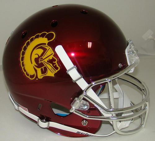 USC Trojans Alternate CHROME Schutt Full Size Replica XP Football Helmet