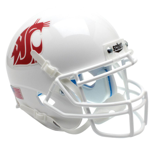 Washington State Cougars Alternate White Schutt Mini Authentic Football Helmet