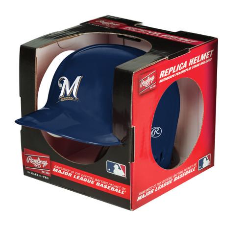 Milwaukee Brewers MLB Rawlings Replica MLB Baseball Mini Helmet