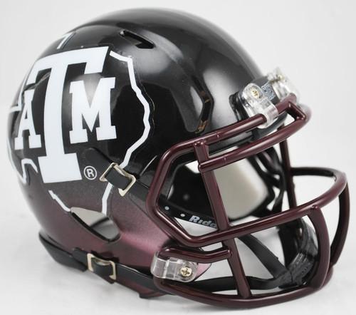 Texas A&M Aggies Alternate Black NCAA Riddell SPEED Mini Helmet