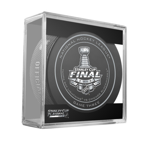 2015 NHL Stanley Cup Finals Playoff Sherwood Official Game Puck - Game 3 (Three)