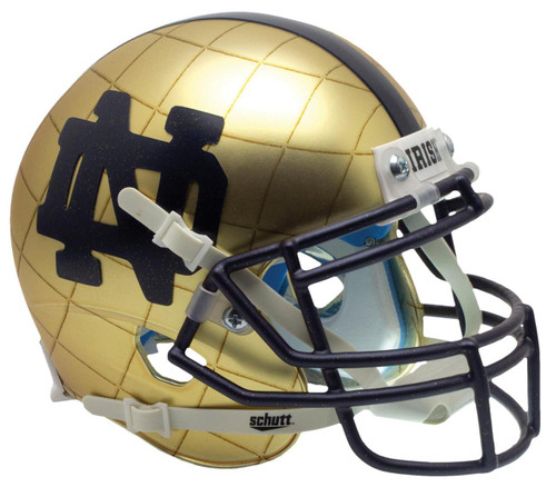 Notre Dame Fighting Irish Alternate 2014 Hydroskin Indianapolis Schutt Mini Authentic Football Helmet