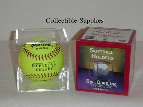 24 SOFTBALL CUBE DISPLAY CASES by BallQube