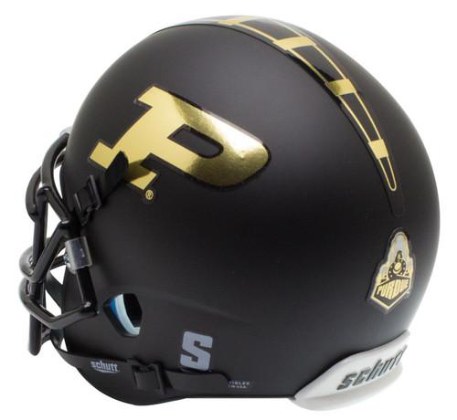 Purdue Boilermakers Alternate Black Schutt Mini Authentic Football Helmet