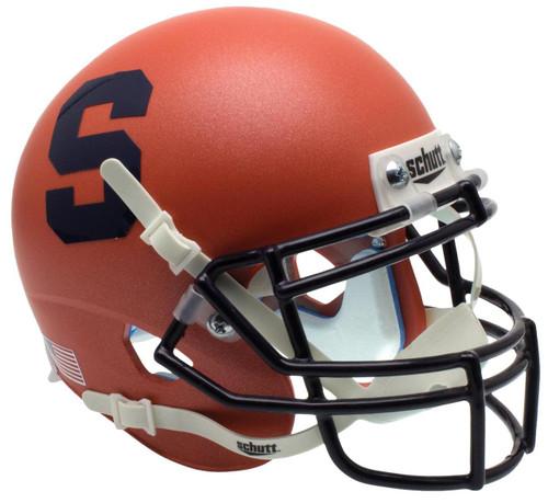 Syracuse Orangemen Alternate Matte Orange Schutt Mini Authentic Football Helmet