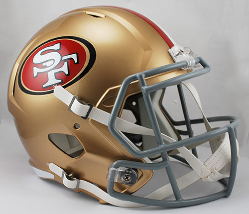 San Francisco 49ers SPEED Riddell Full Size Replica Helmet