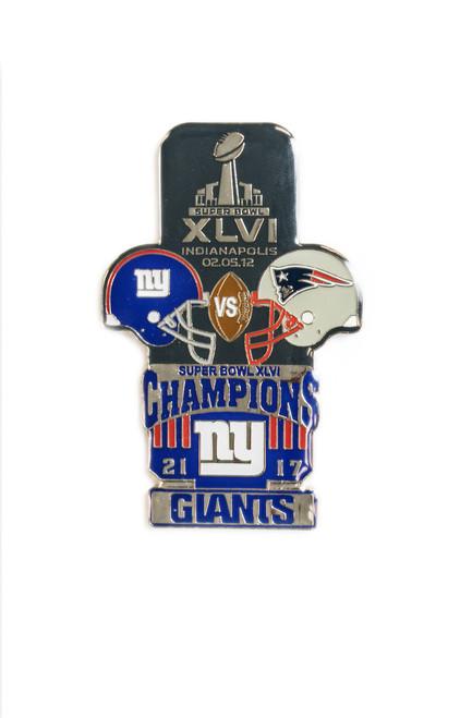 Super Bowl XLVI (46) Commemorative Lapel Pin
