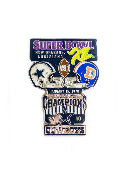 Super Bowl XII (12) Commemorative Lapel Pin