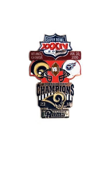 Super Bowl XXXIV (34) Commemorative Lapel Pin