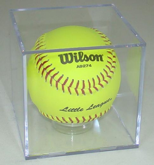 SOFTBALL CUBE DISPLAY CASE with Stand for 11 inch Softball