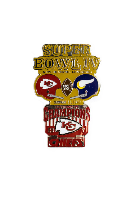 Super Bowl IV (4) Commemorative Lapel Pin