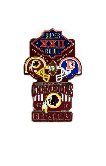 Super Bowl XXII (22) Commemorative Lapel Pin