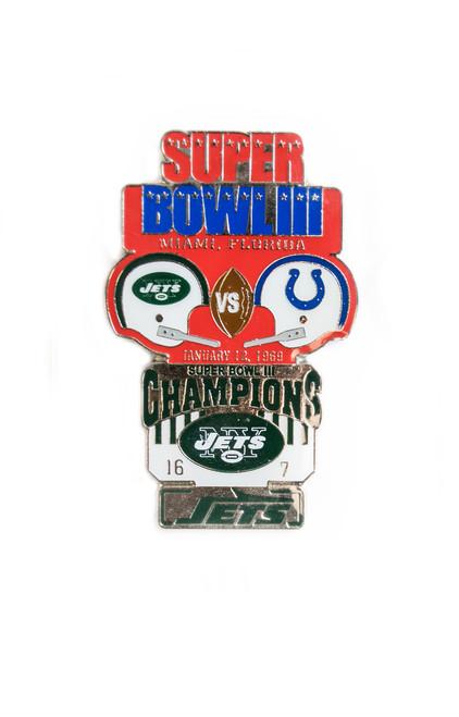Super Bowl III (3) Commemorative Lapel Pin