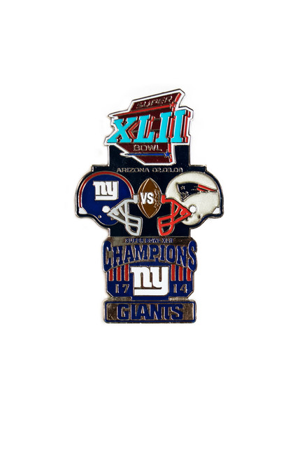 Super Bowl XLII (42) Commemorative Lapel Pin
