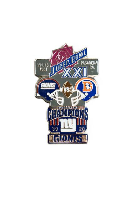 Super Bowl XXI (21) Commemorative Lapel Pin
