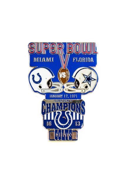 Super Bowl V (5) Commemorative Lapel Pin