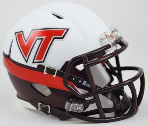 Virginia Tech Hokies NCAA Mini Speed Football Helmet - Alternate White Effect