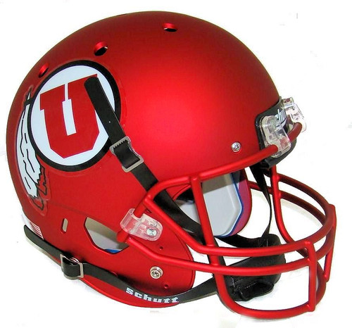Utah Utes Alternate 9 SATIN RED Schutt Full Size Replica XP Football Helmet
