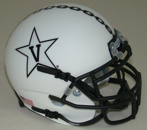 Vanderbilt Commodores White Alternate Anchor Schutt Mini Authentic Football Helmet
