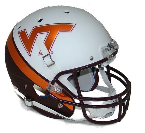 Virginia Tech Alternate WEDGE WHITE EFFECT Schutt Full Size Replica XP Football Helmet