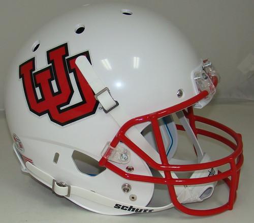 Utah Utes White Alternate 10 Schutt Full Size Replica XP Football Helmet