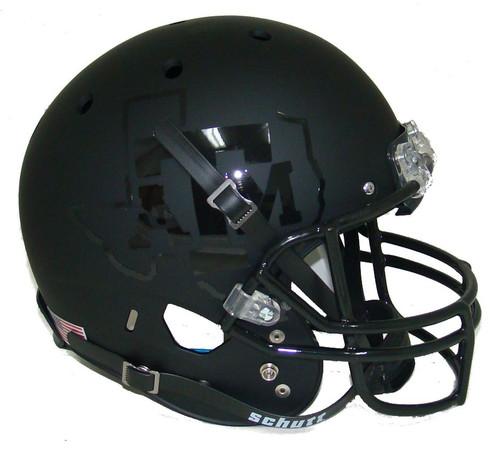 Texas A&M Aggies Alternate BLACKOUT Schutt Full Size Replica XP Football Helmet