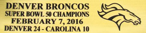 Denver Broncos Super Bowl 50 Champions Full Size Football Helmet Display Case
