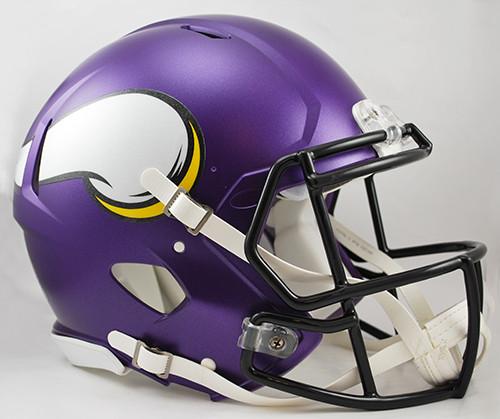Minnesota Vikings Matte Purple Riddell Full Size Authentic SPEED Helmet