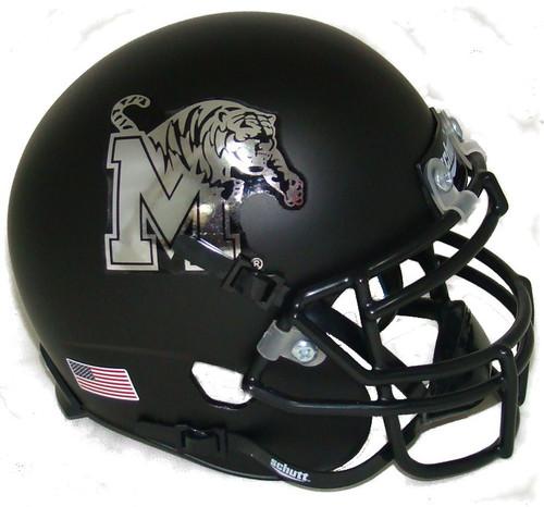 Memphis Tigers Alternate Black Schutt Mini Authentic Football Helmet