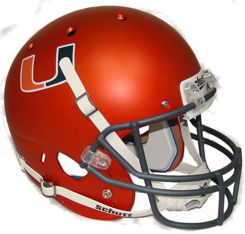 Miami Hurricanes Alternate Orange Schutt Full Size Replica XP Football Helmet