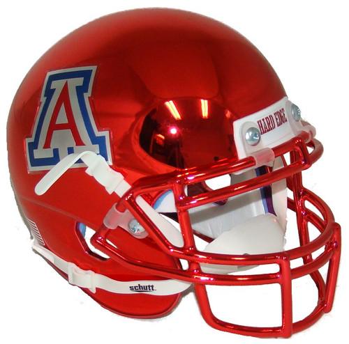 Arizona Wildcats Red Chrome Schutt Mini Authentic Football Helmet