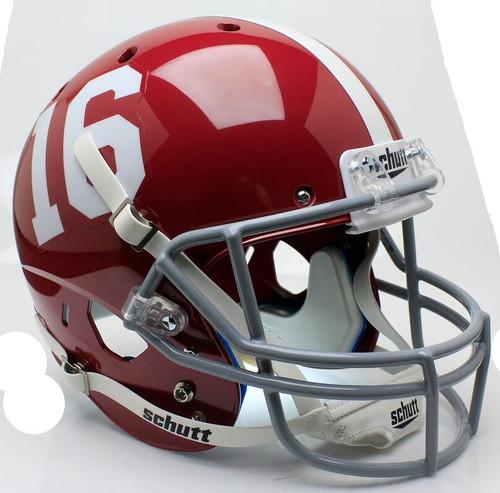 Alabama Crimson Tide #16 Schutt Full Size Replica XP Football Helmet