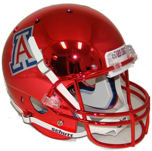 Arizona Wildcats Alternate Red Chrome Schutt Full Size Replica XP Football Helmet