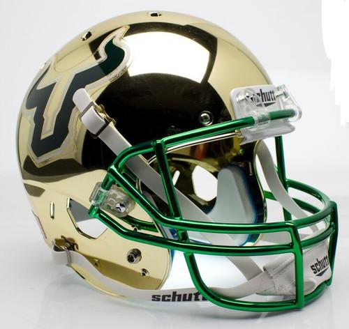 South Florida Bulls Alternate Gold Chrome Schutt Full Size Replica XP Football Helmet