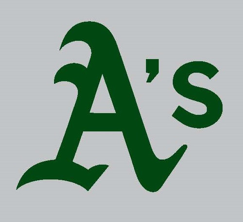 OAKLAND A's GREEN Throwback FULL SIZE HELMET 3M STICKER DECAL