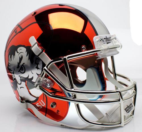 Oklahoma State Cowboys Orange Chrome Pistol Pete Schutt Full Size Replica XP Football Helmet