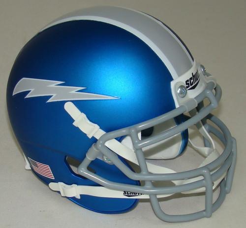 Air Force Falcons Alternate 7 Blue Grey Schutt Mini Authentic Football Helmet