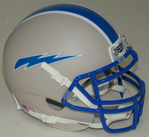 Air Force Falcons Alternate 6 Grey Schutt Mini Authentic Football Helmet