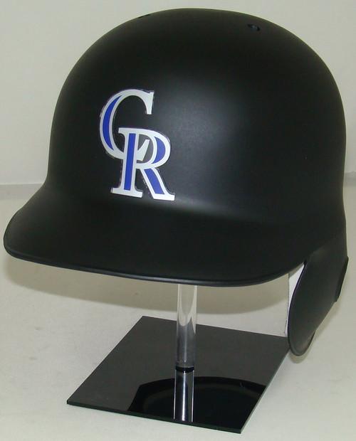 Colorado Rockies Matte Black Rawlings Classic LEC Full Size Baseball Batting Helmet