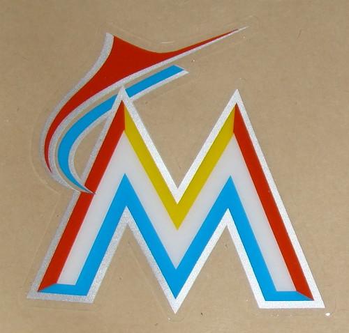 MIAMI MARLINS NEW LOGO FULL SIZE HELMET 3M STICKER DECAL