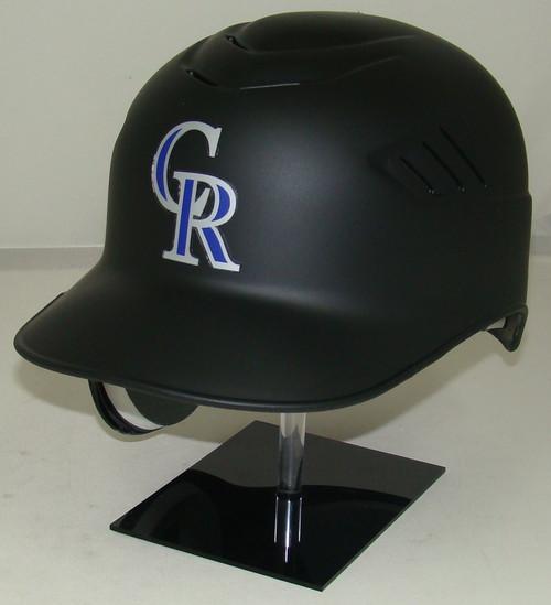Colorado Rockies Matte Black Rawlings Coolflo REC Full Size Baseball Batting Helmet