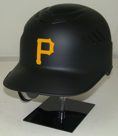 Pittsburgh Pirates Matte Black Rawlings Coolflo REC Full Size Baseball Batting Helmet