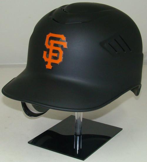 San Francisco Giants MATTE BLACK Rawlings Coolflo REC Full Size Baseball Batting Helmet