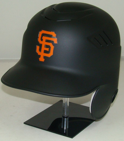San Francisco Giants MATTE BLACK Rawlings Coolflo LEC Full Size Baseball Batting Helmet