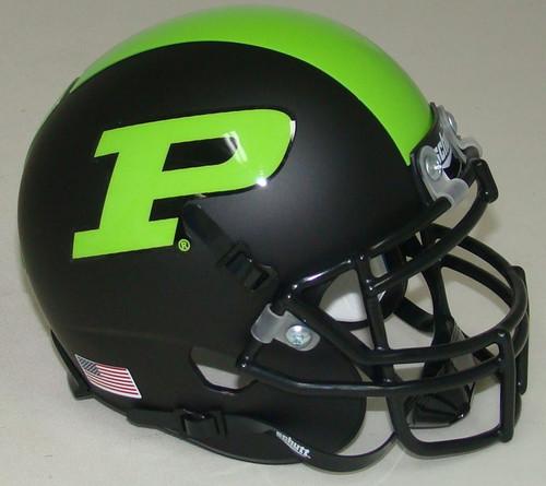 Purdue Boilermakers Alternate Black & Green Schutt Mini Authentic Football Helmet