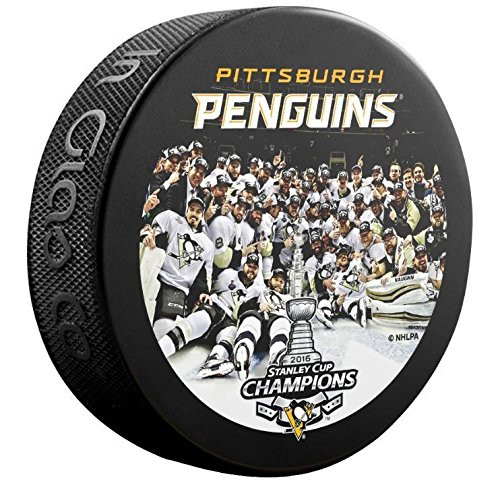 2016 Pittsburgh Penguins NHL Stanley Cup Champions Team Image Sherwood Souvenir Puck