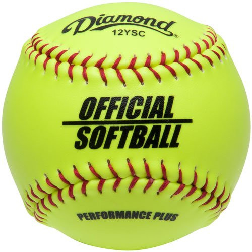 Diamond 12-Inch Synthetic Optic Cover Softballs (Dozen) 12YSC